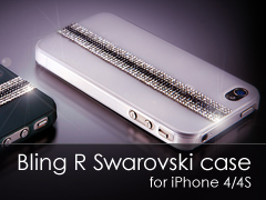 Bling R Swarovski iPhone 4/4s tok