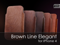 Brown Line Elegant iPhone 4 tok