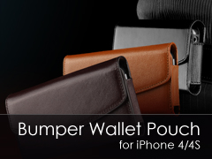 Bumper Wallet Pouch iPhone 4 tok