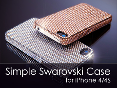 SIMPLE Swarovski iPhone 4S/S tok