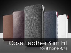 iCase Leather Slim Fit iPhone 4/4s tok